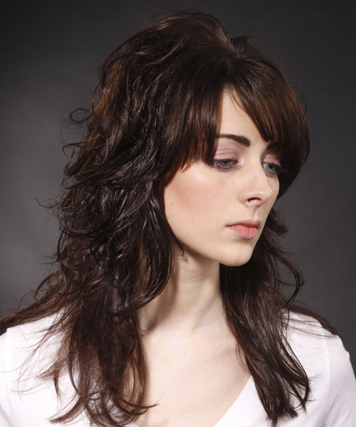 Long Straight Casual   Hairstyle   - Side View