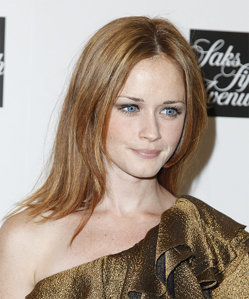 Alexis Bledel Medium Straight Casual   Hairstyle   - Side View