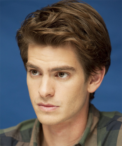 Andrew Garfield Short Straight Formal   Hairstyle   - Side View