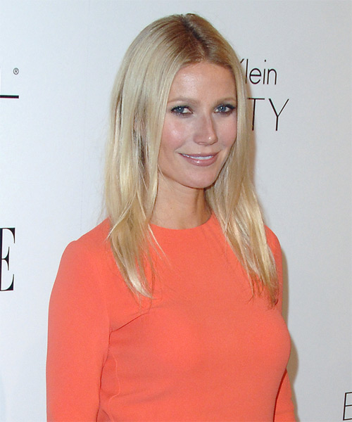 Gwyneth Paltrow Long Straight Casual   Hairstyle   - Side View