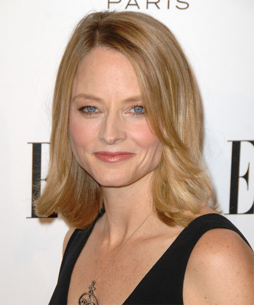 Jodie Foster Medium Straight Formal   Hairstyle   - Medium Blonde (Honey) - Side View