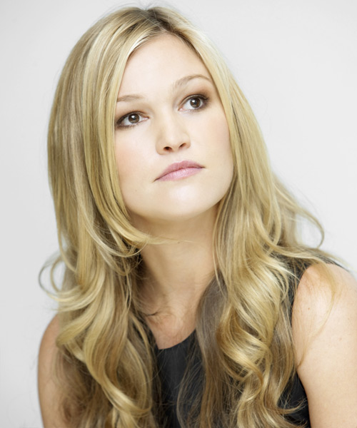 Julia Styles Long Wavy Casual    Hairstyle   - Light Golden Blonde Hair Color - Side View