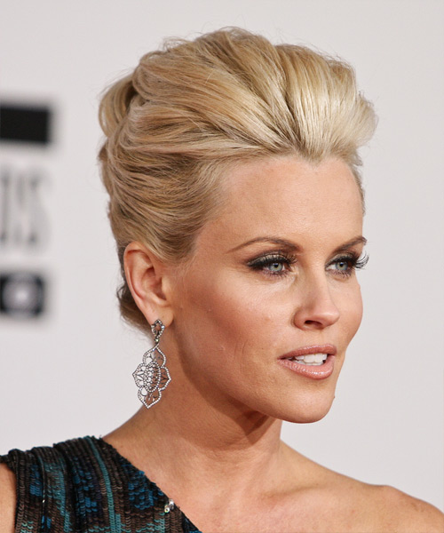 Jenny McCarthy  Long Straight Formal   Updo Hairstyle   -  Blonde Hair Color - Side View