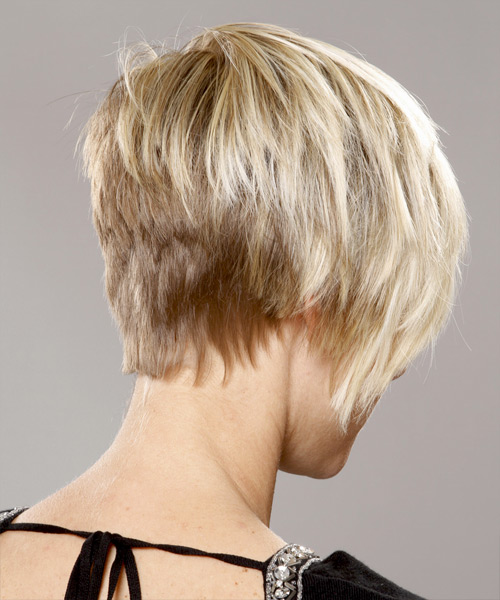 Short Straight Casual  Pixie  Hairstyle with Side Swept Bangs  - Platinum Hair Color - Side View