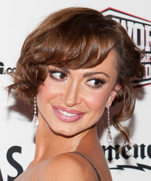 Karina Smirnoff  Long Curly Formal   Updo Hairstyle   -  Brunette Hair Color - Side View