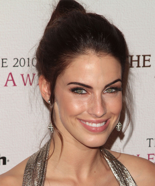 Jessica Lowndes Updo Long Straight Casual  Updo Hairstyle   - Side View