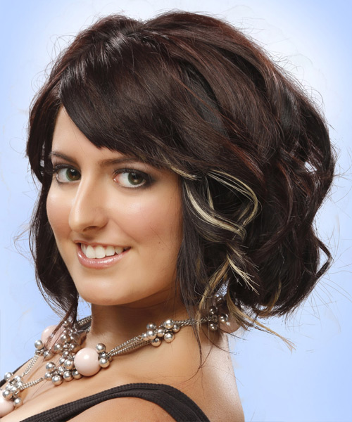 Medium Wavy Formal   Hairstyle   - Side View