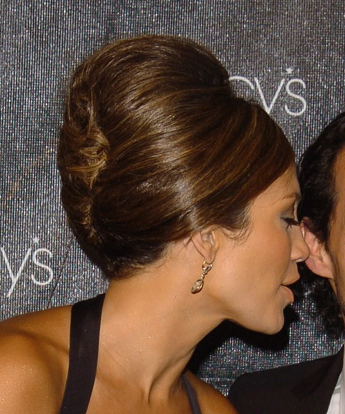 Jennifer Lopez Updo Medium Straight Formal  Updo Hairstyle   - Side View