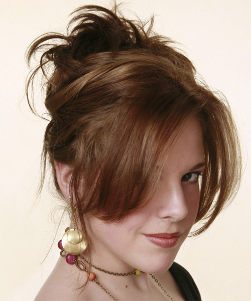 Loose party updo