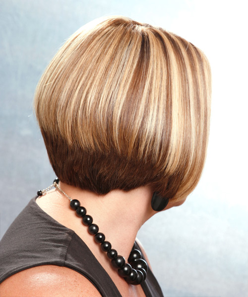 Medium Straight Casual    Hairstyle   -  Chestnut Blonde Hair Color - Side View