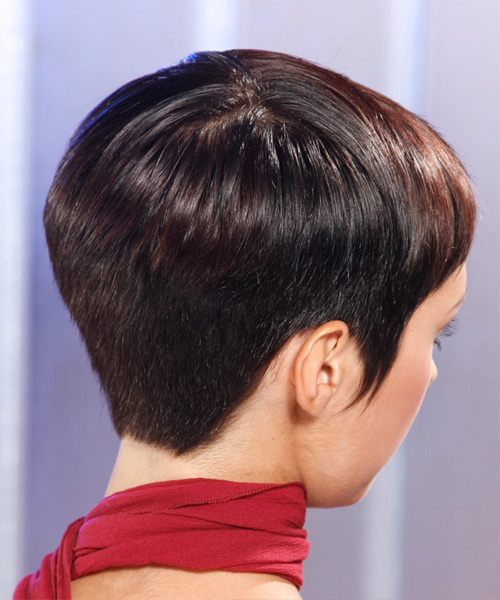 Short Straight Formal    Hairstyle   - Mocha Hair Color - Side View