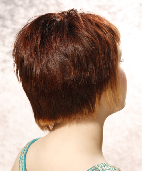 Short Straight     Hairstyle   - Side View
