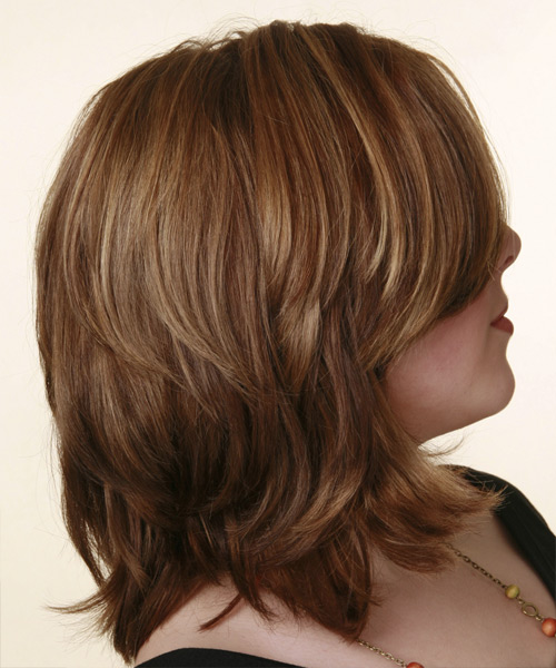 Medium Wavy Casual   Hairstyle   - Side View