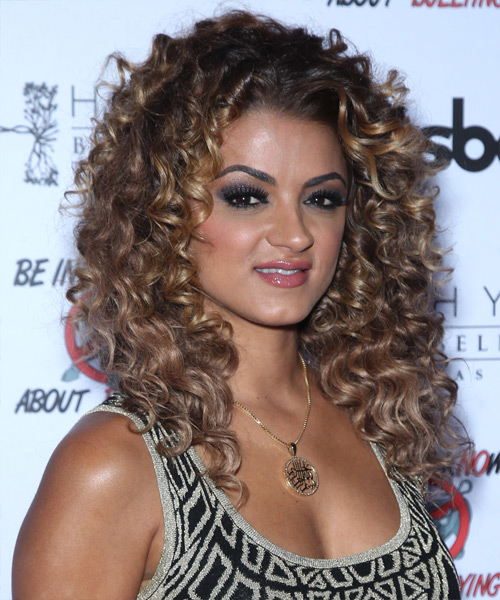 Golnesa Gharachedaghi Long Curly Casual   Hairstyle   - Side View