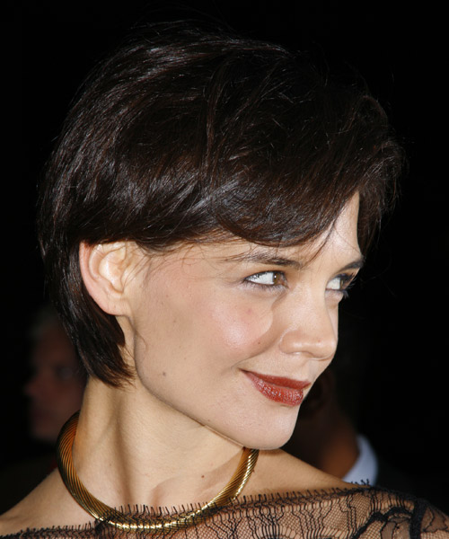 Katie Holmes Short Straight Casual Hairstyle   Side View