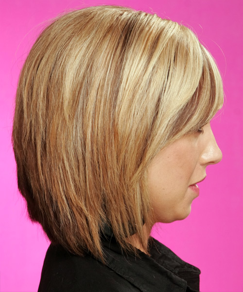 back view of medium layered haircuts medium casual hairstyle 2773