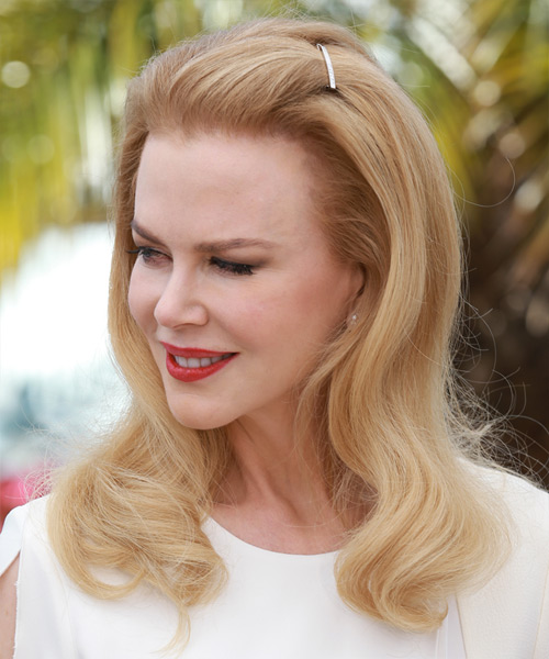 Nicole Kidman Long Straight Formal    Hairstyle   - Light Strawberry Blonde Hair Color - Side View