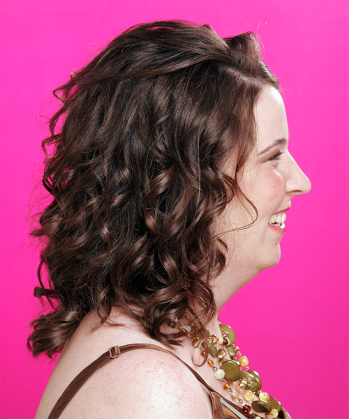 Long Curly Formal   Hairstyle   - Side View