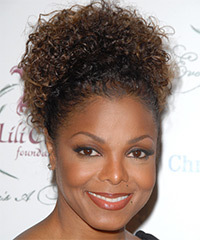 Janet Jackson  Long Curly    Updo