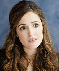 Rose Byrne  Long Curly Casual   Half Up Hairstyle