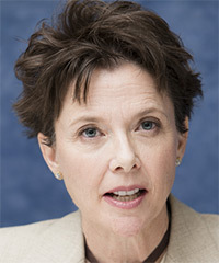 Annette Bening Short Straight Casual    Hairstyle   -  Chocolate Brunette Hair Color