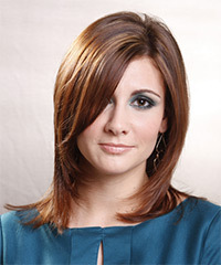Medium Straight Formal    Hairstyle   - Light Brunette Hair Color