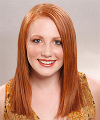 Long Straight Formal    Hairstyle   -  Ginger Red Hair Color