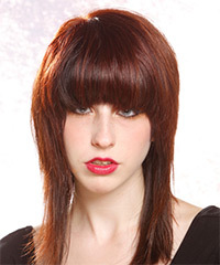 Long Straight Casual    Hairstyle