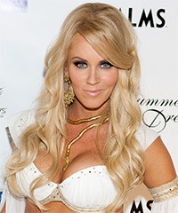 Jenny McCarthy Long Wavy Formal    Hairstyle   -  Honey Blonde Hair Color