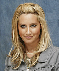 Ashley Tisdale Long Straight Casual    Hairstyle   -  Honey Blonde Hair Color
