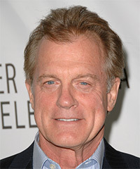 Stephen Collins Short Straight Casual    Hairstyle   - Dark Blonde and Light Grey Two-Tone Hair Color