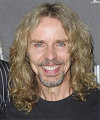 Tommy Shaw Long Wavy Casual    Hairstyle   - Light Blonde and Salt and Pepper Two-Tone Hair Color