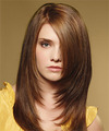Long Straight Formal    Hairstyle   -  Caramel Brunette Hair Color
