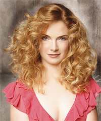 Long Curly Formal    Hairstyle   -  Blonde Hair Color