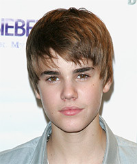 Justin Bieber Short Straight Casual    Hairstyle   -  Auburn Brunette Hair Color