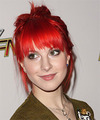Hayley Williams  Long Straight Casual   Updo Hairstyle with Razor Cut Bangs  - Light Red Hair Color