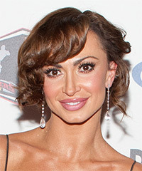 Karina Smirnoff  Long Curly Formal   Updo Hairstyle   -  Brunette Hair Color