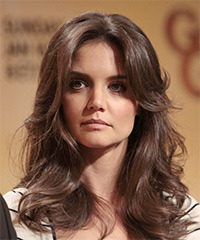 Katie Holmes Long Wavy Formal    Hairstyle   - Mocha Hair Color