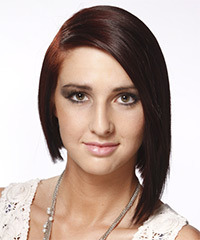 Medium Straight Alternative  Asymmetrical  Hairstyle   - Mocha Hair Color
