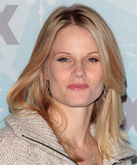 Joelle Carter  Long Straight Casual    Hairstyle   - Light Blonde and Dark Brunette Two-Tone Hair Color
