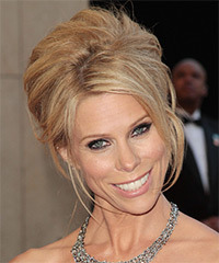 Cheryl Hines  Long Straight Formal   Updo Hairstyle   -  Blonde Hair Color