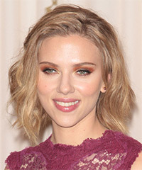 Scarlett Johansson  Long Straight Casual   Updo Hairstyle   - Light Blonde and Light Brunette Two-Tone Hair Color