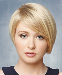 Short Straight Formal    Hairstyle   - Light Blonde Hair Color