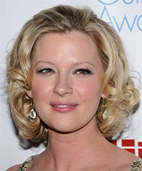 Gretchen Mol Medium Curly Formal    Hairstyle   -  Blonde Hair Color