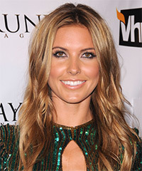 Audrina Partridge Long Wavy Casual    Hairstyle   - Dark Copper Blonde Hair Color with Light Blonde Highlights