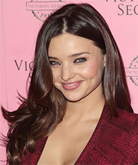 Miranda Kerr Long Wavy   Dark Chocolate Brunette   Hairstyle