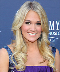 Carrie Underwood Long Wavy Formal    Hairstyle   - Light Blonde Hair Color
