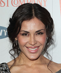 Carla Ortiz  Long Curly Casual   Updo Hairstyle   - Black  Hair Color