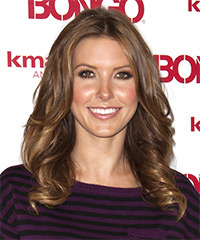 Audrina Partidge Long Wavy Formal    Hairstyle   -  Chestnut Brunette Hair Color