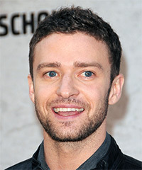 Justin Timberlake Short Wavy Casual    Hairstyle   -  Brunette Hair Color